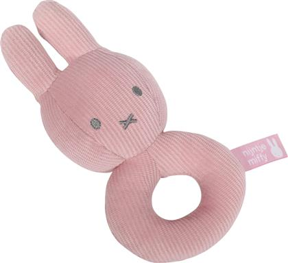 Baby Oliver Yφασμάτινη Κουδουνίστρα Miffy Pink