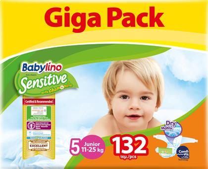 Babylino Sensitive Junior No5 (11-25kg) Giga Pack 132τμχ από το Pharm24