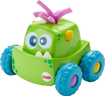 Fisher Price Press 'N Go Οχηματάκια Monster Trucks Green από το Moustakas Toys