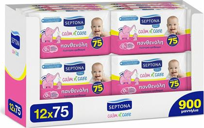 Septona Baby Calm n' Care Panthenol 12x75τμχ 900τμχ από το Pharm24